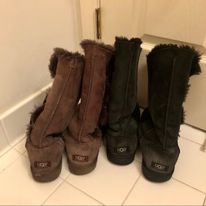 Two (2) pair Ugg Bailey Button Triplet boots